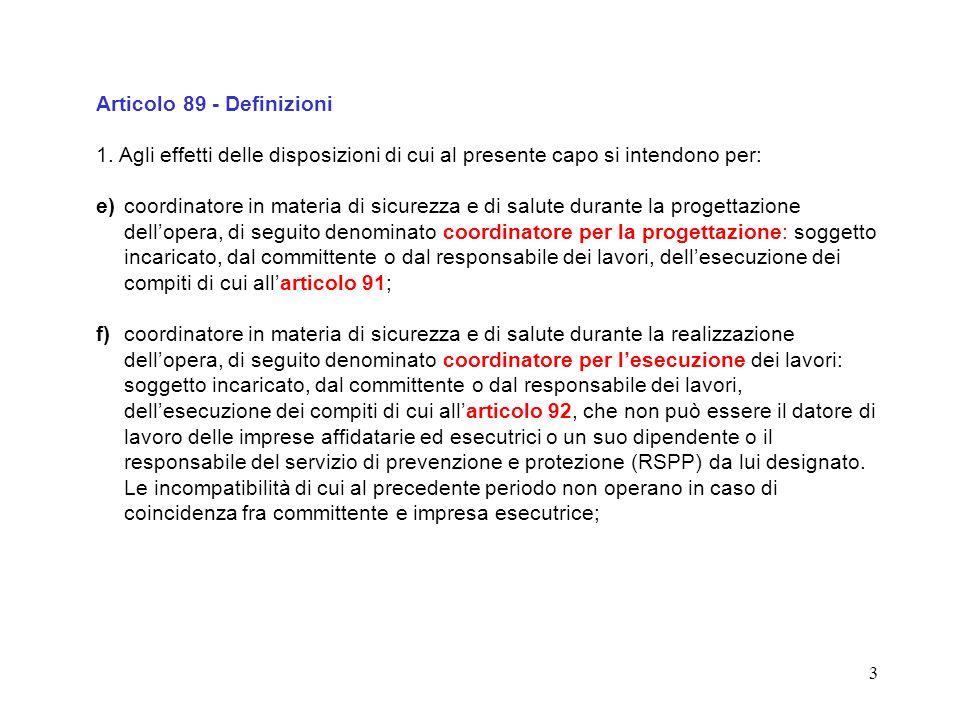Articolo 89 - Definizioni
