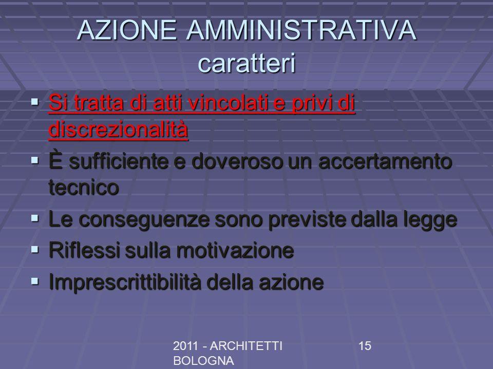 AZIONE AMMINISTRATIVA caratteri