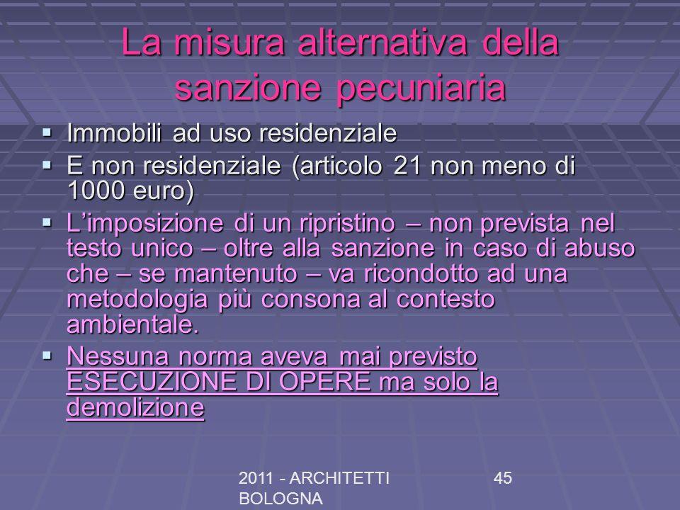La misura alternativa della sanzione pecuniaria