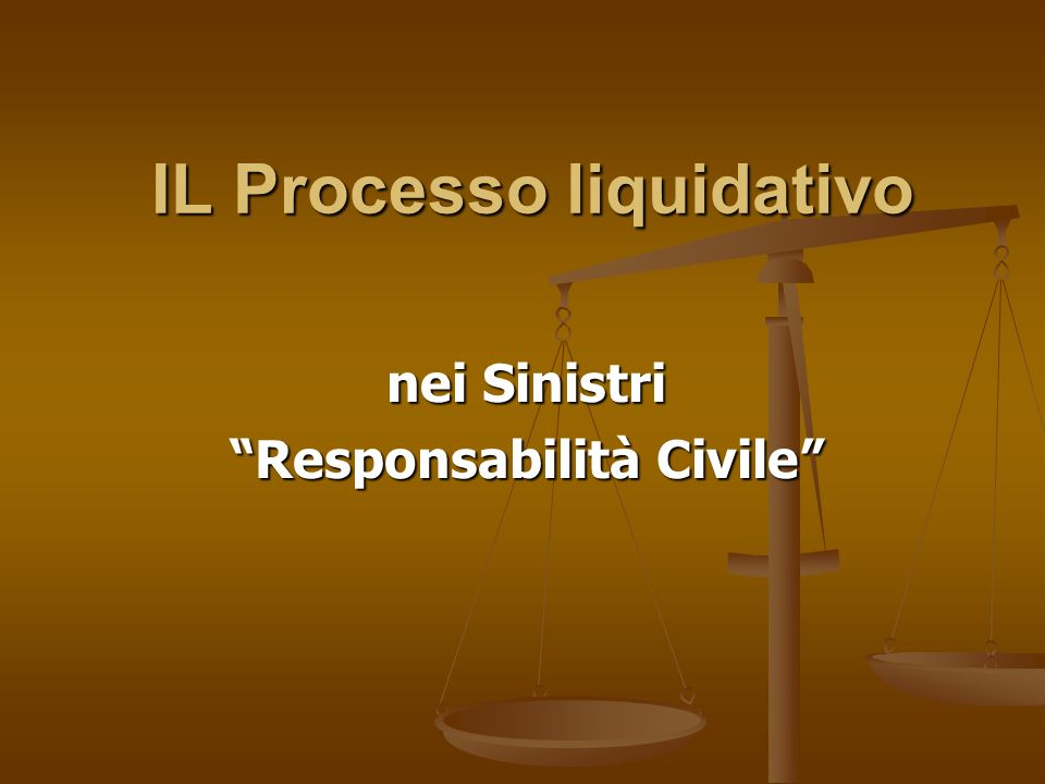 IL Processo liquidativo