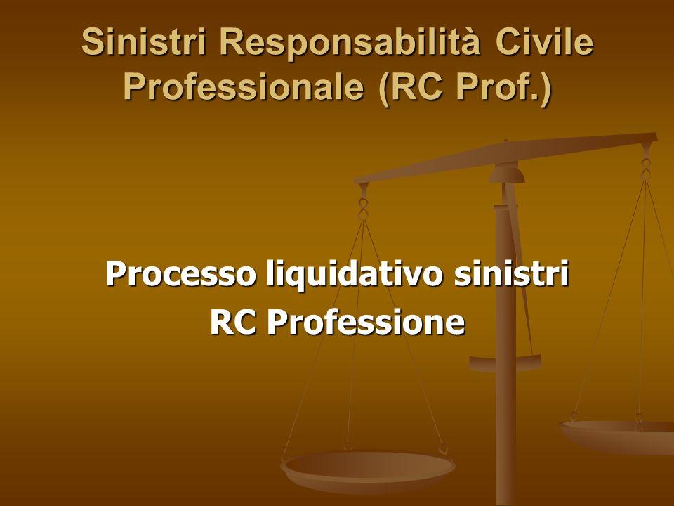 Sinistri Responsabilità Civile Professionale (RC Prof.)