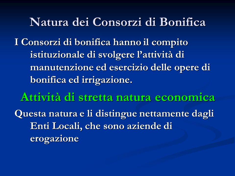 Natura dei Consorzi di Bonifica