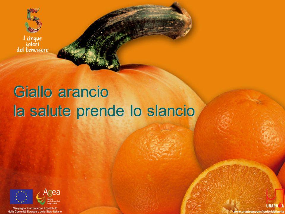 Giallo arancio la salute prende lo slancio