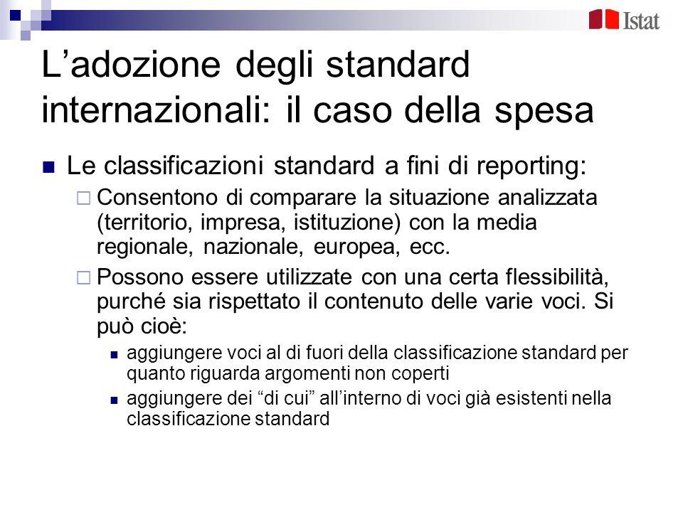 L'adozione degli standard internazionali: il caso della spesa