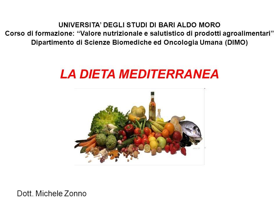 LA DIETA MEDITERRANEA Dott. Michele Zonno