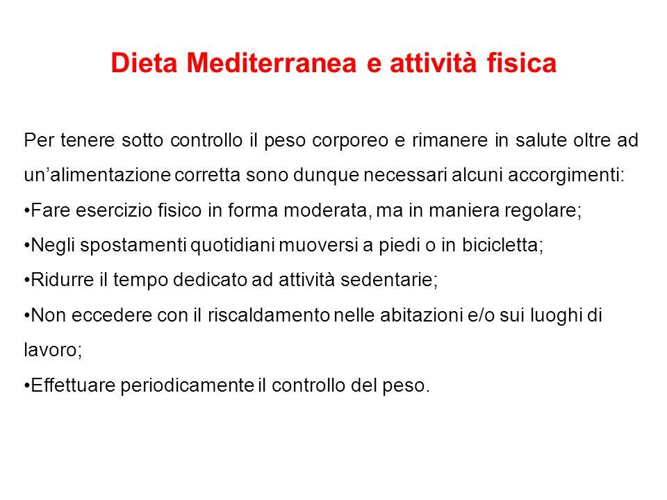 Dieta Mediterranea e attività fisica