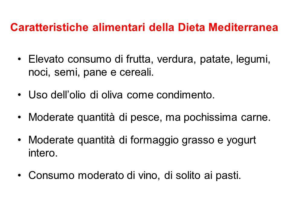 Caratteristiche alimentari della Dieta Mediterranea