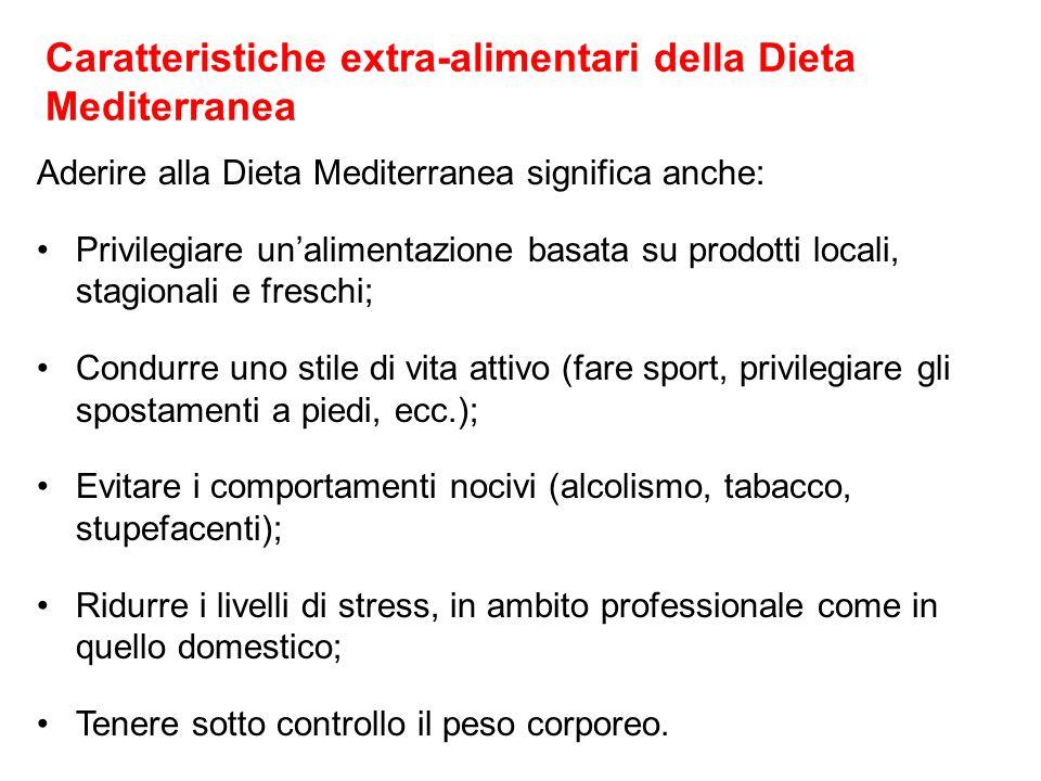 Caratteristiche extra-alimentari della Dieta Mediterranea