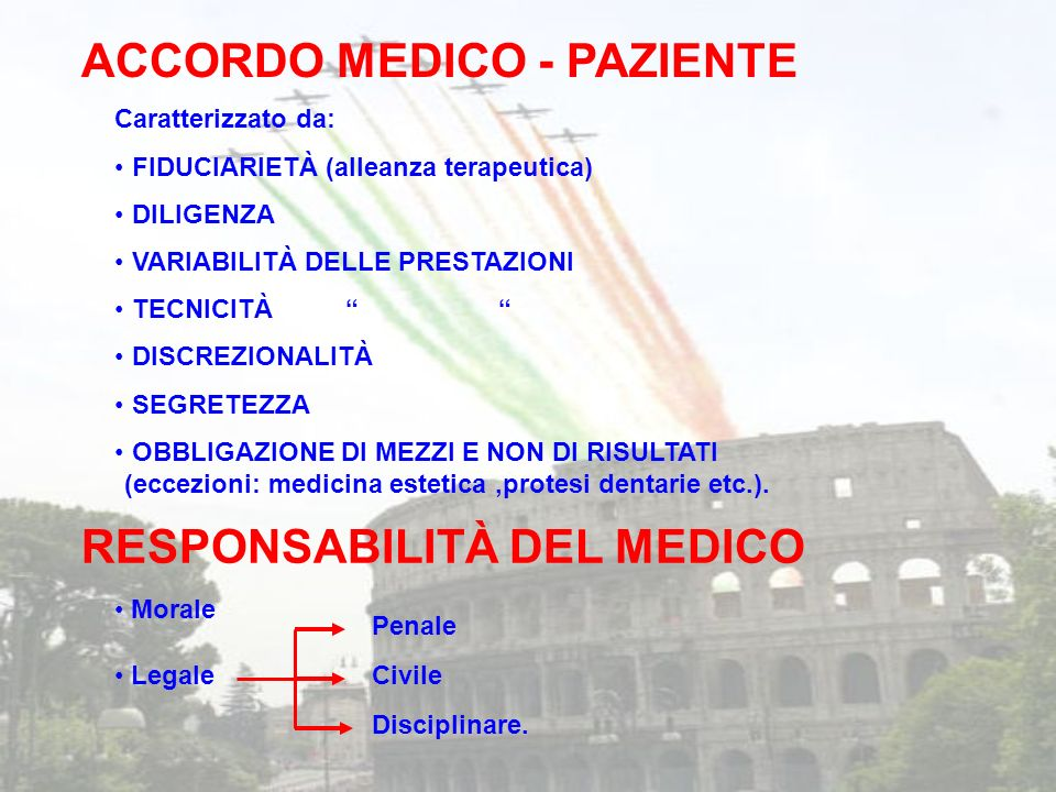 ACCORDO MEDICO - PAZIENTE