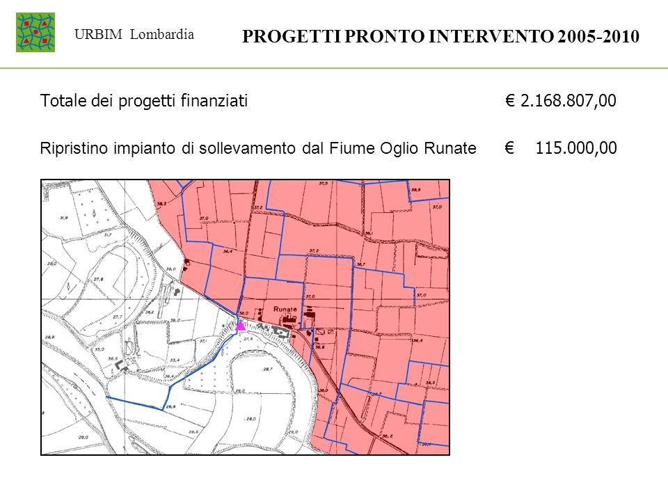 PROGETTI PRONTO INTERVENTO 2005-2010