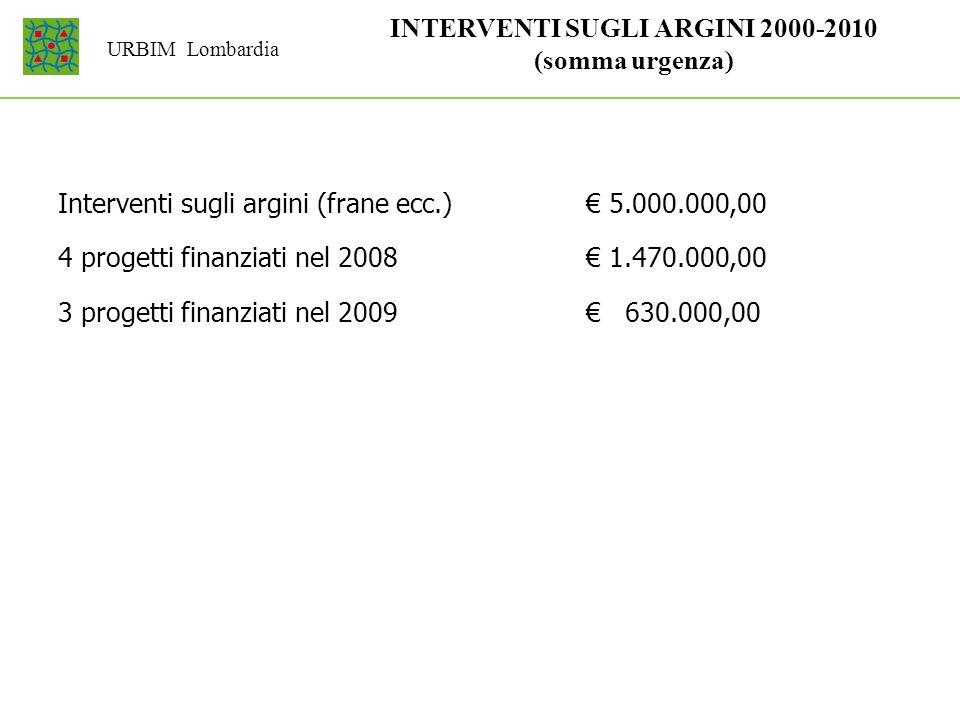 INTERVENTI SUGLI ARGINI 2000-2010