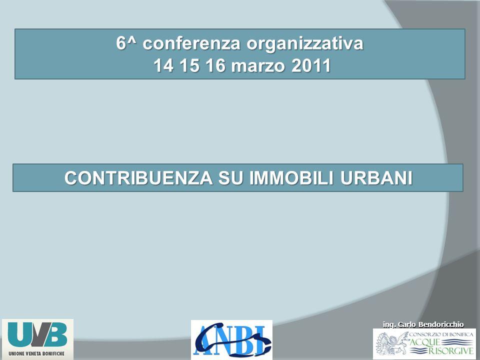 6^ conferenza organizzativa CONTRIBUENZA SU IMMOBILI URBANI