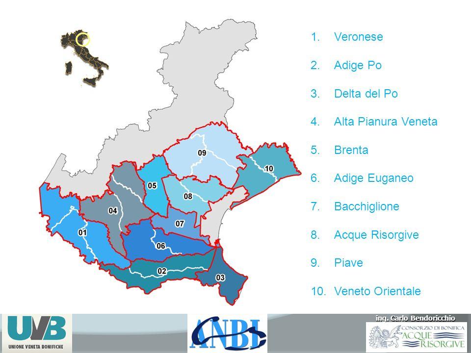 Veronese Adige Po. Delta del Po. Alta Pianura Veneta. Brenta. Adige Euganeo. Bacchiglione. Acque Risorgive.
