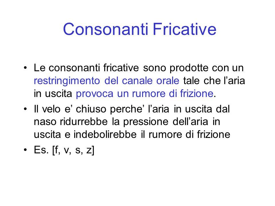 Consonanti Fricative