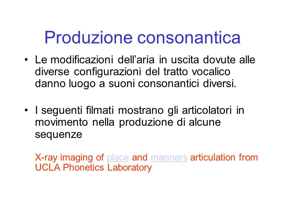 Produzione consonantica