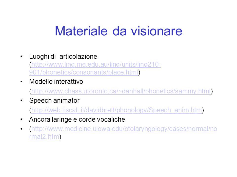 Materiale da visionare