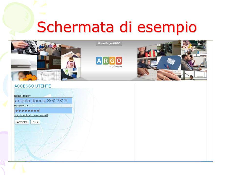 Schermata di esempio