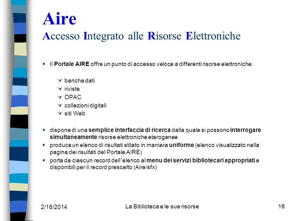 Aire Accesso Integrato alle Risorse Elettroniche