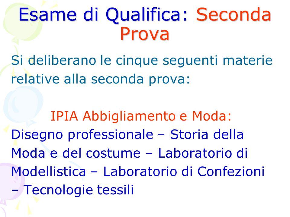 Esame di Qualifica: Seconda Prova