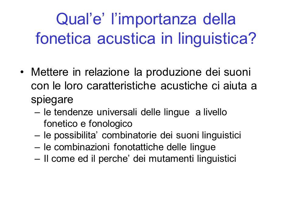 Qual'e' l'importanza della fonetica acustica in linguistica