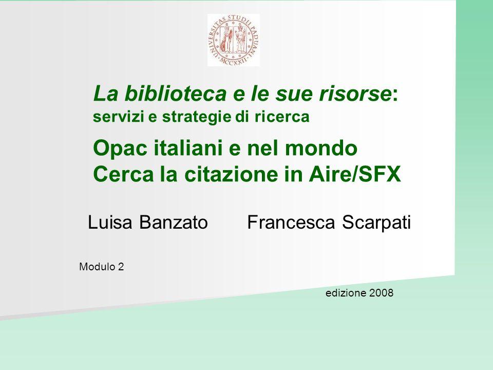 Luisa Banzato Francesca Scarpati Modulo 2 edizione 2008