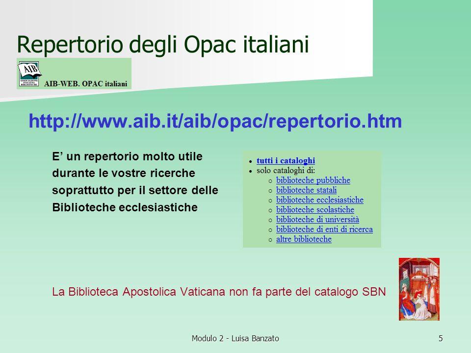 Repertorio degli Opac italiani