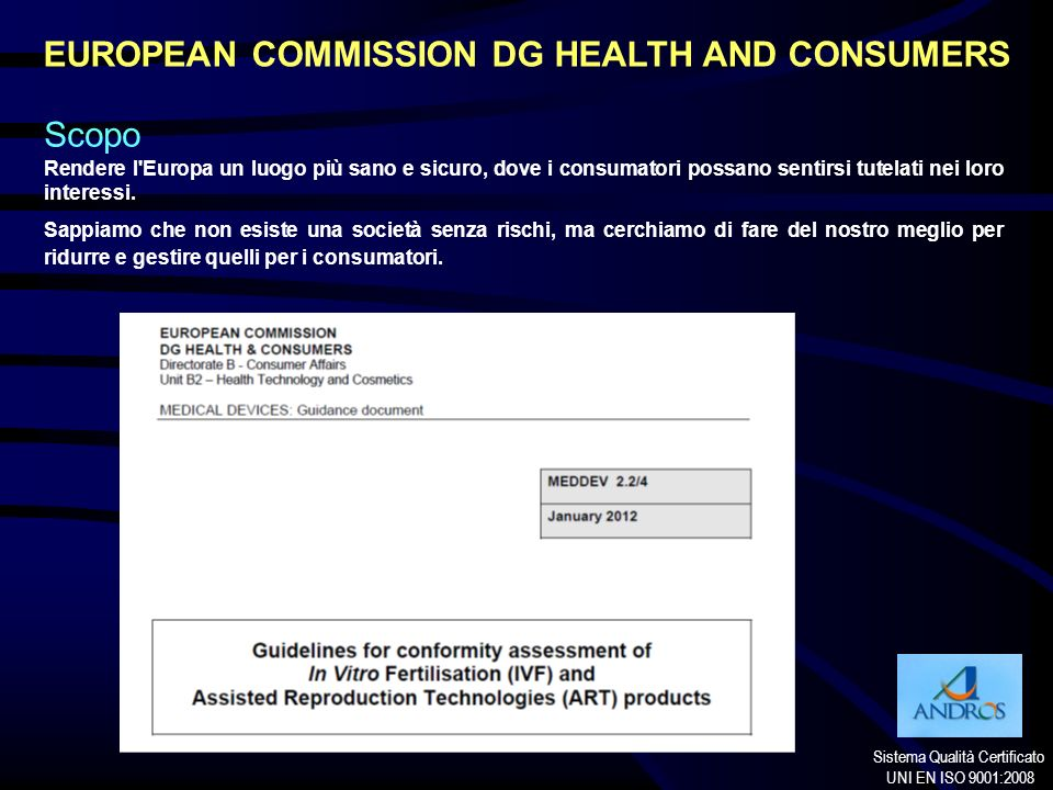EUROPEAN COMMISSION DG HEALTH AND CONSUMERS