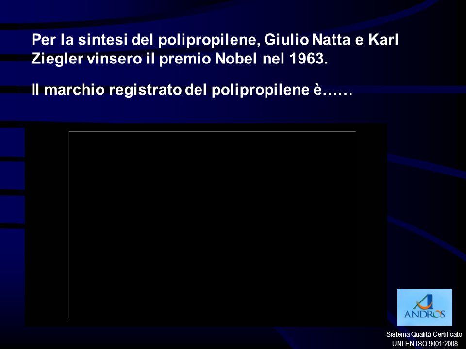 Per la sintesi del polipropilene, Giulio Natta e Karl Ziegler vinsero il premio Nobel nel 1963.