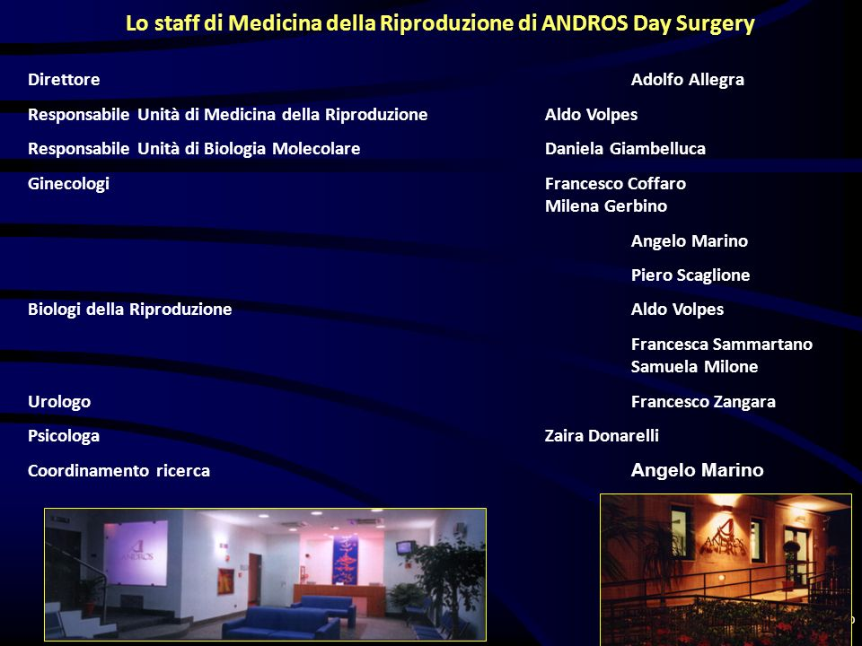 Lo staff di Medicina della Riproduzione di ANDROS Day Surgery