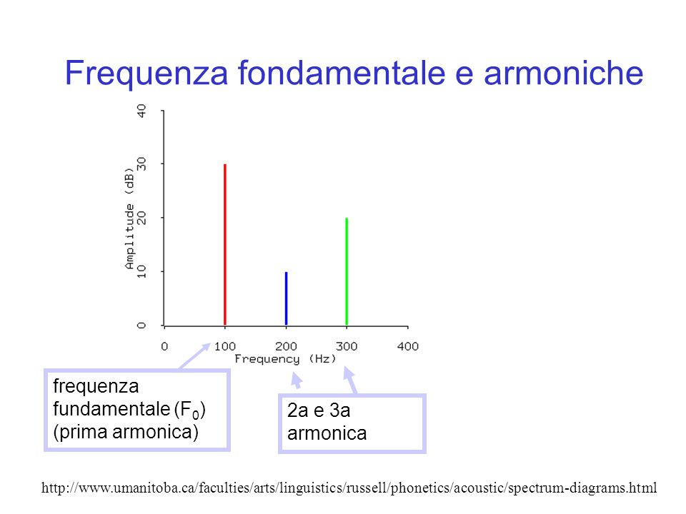 Frequenza fondamentale e armoniche
