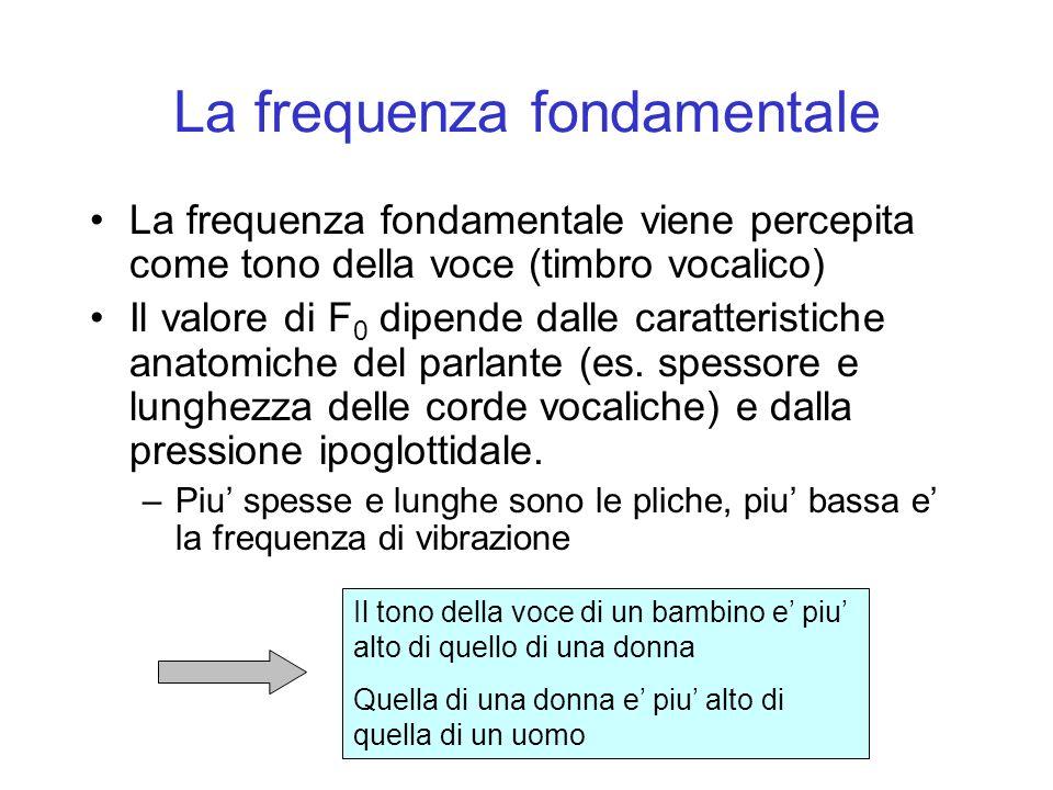 La frequenza fondamentale