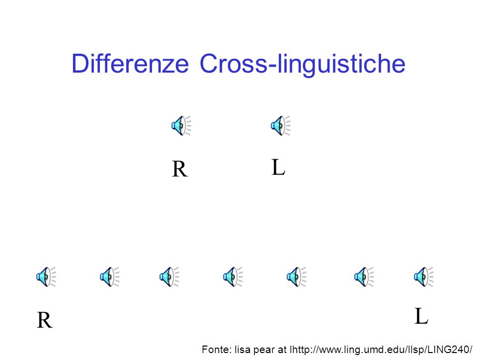 Differenze Cross-linguistiche