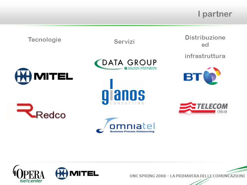 I partner Distribuzione ed infrastruttura Tecnologie Servizi