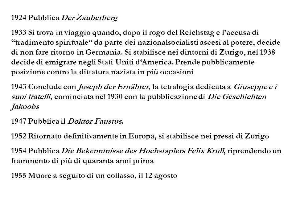 1924 Pubblica Der Zauberberg