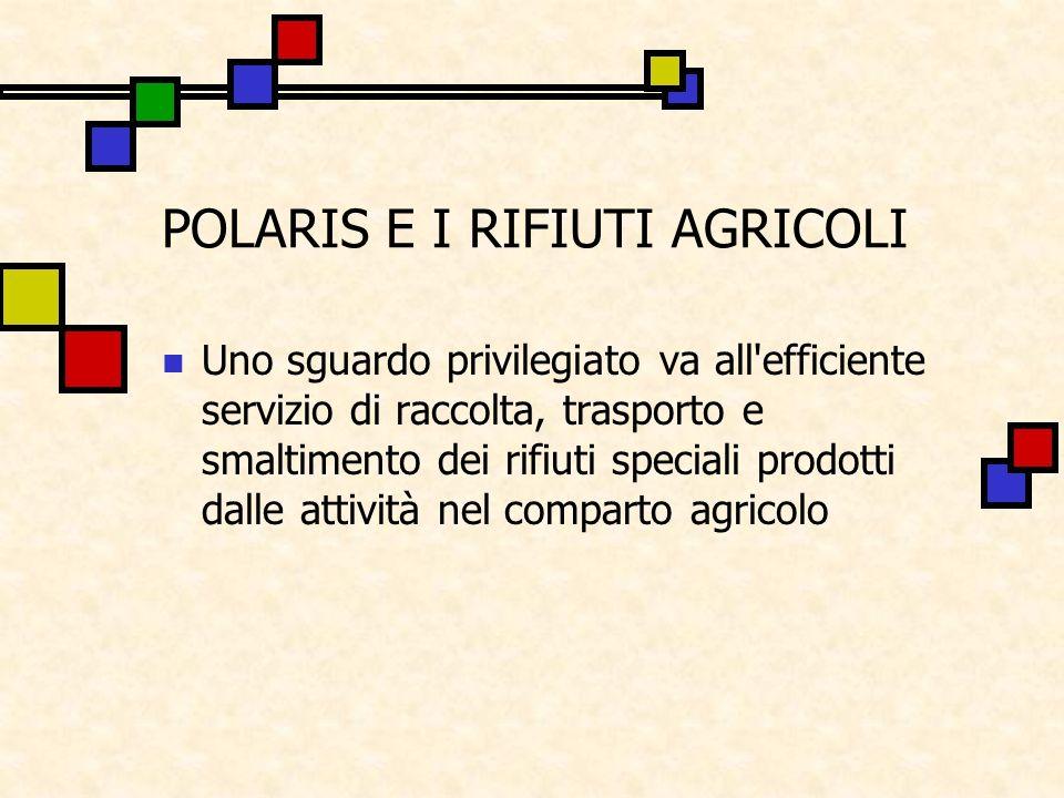 POLARIS E I RIFIUTI AGRICOLI
