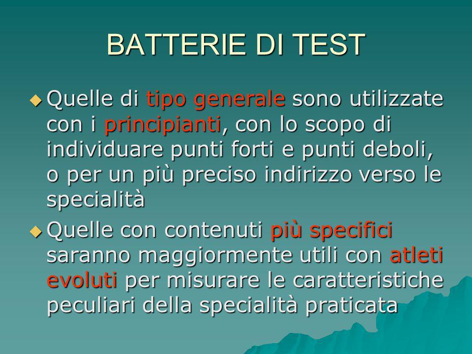 BATTERIE DI TEST