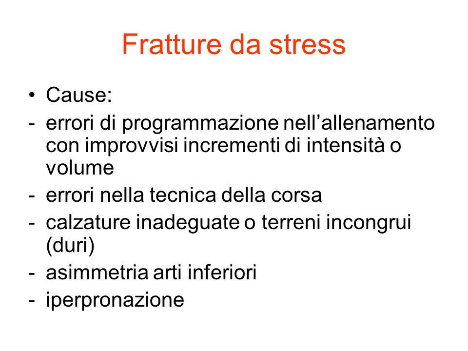 Fratture da stress Cause: