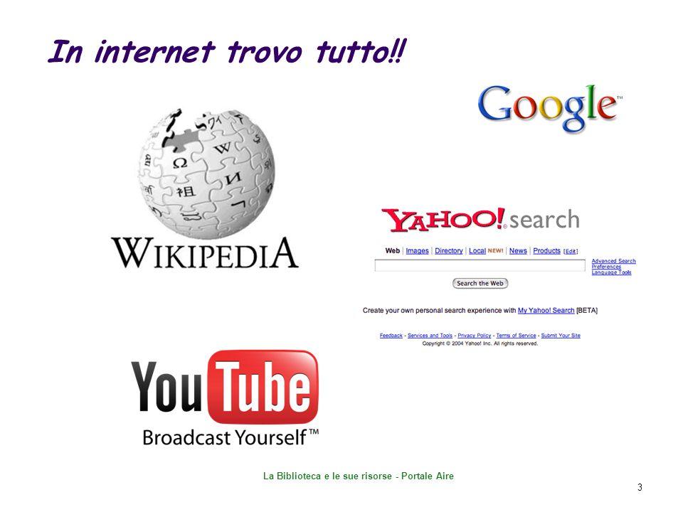 In internet trovo tutto!!
