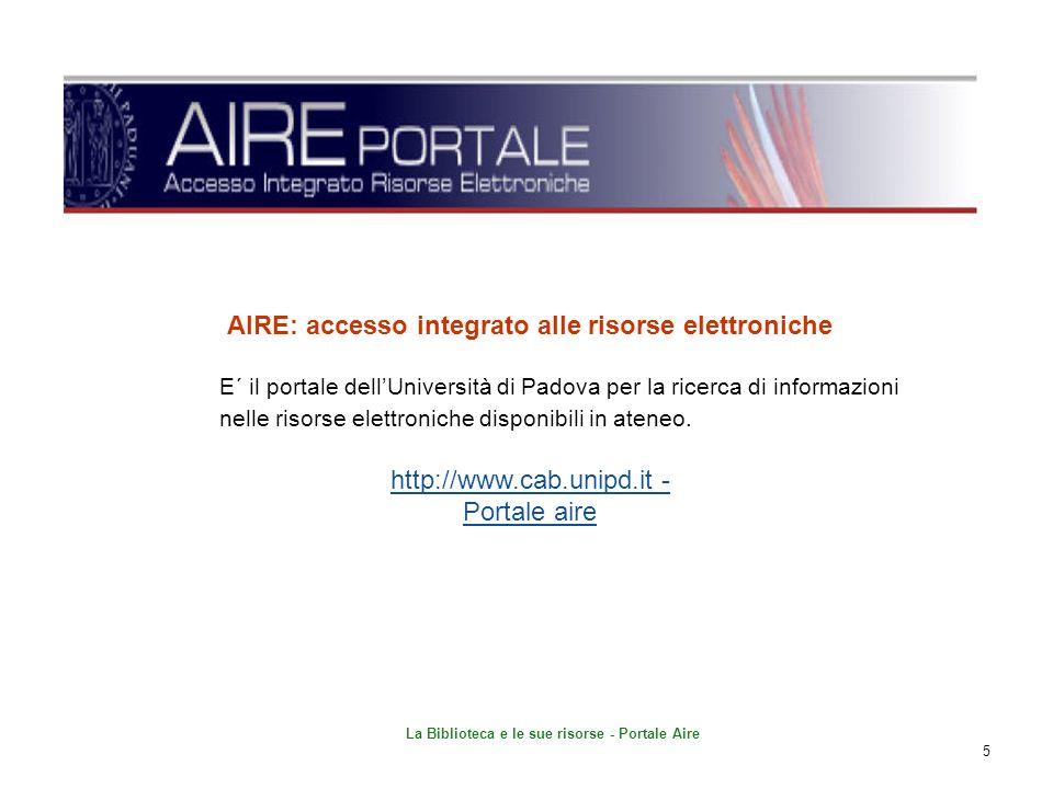 AIRE: accesso integrato alle risorse elettroniche