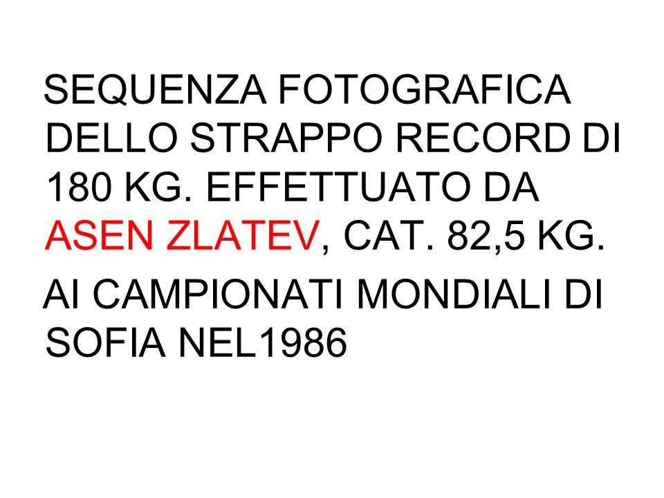 SEQUENZA FOTOGRAFICA DELLO STRAPPO RECORD DI 180 KG