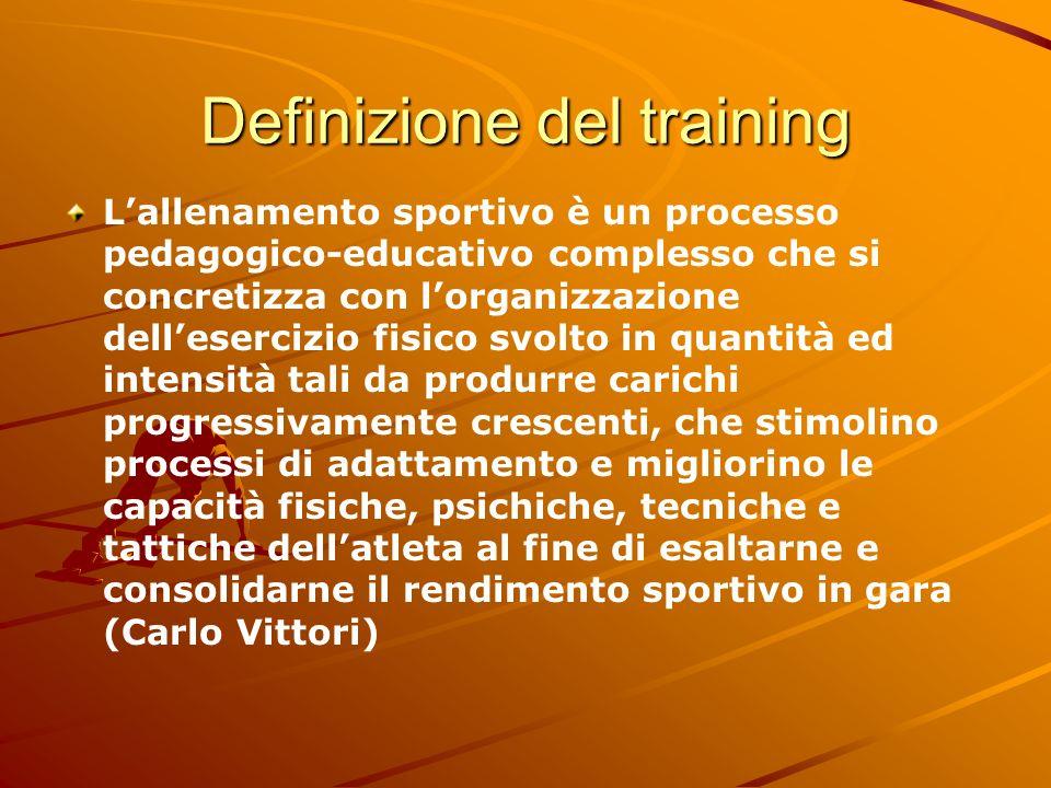 Definizione del training