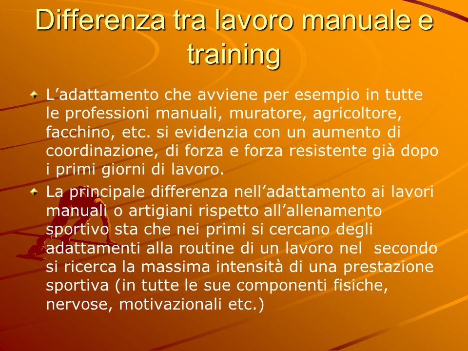 Differenza tra lavoro manuale e training