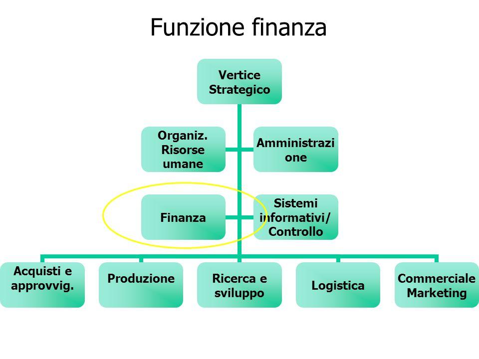 Funzione finanza