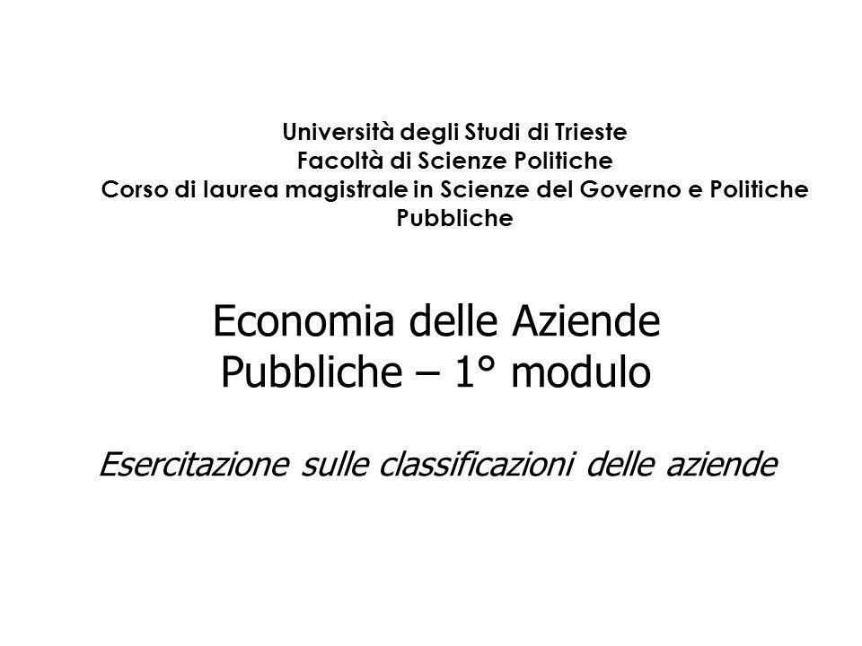 Università degli Studi di Trieste Facoltà di Scienze Politiche