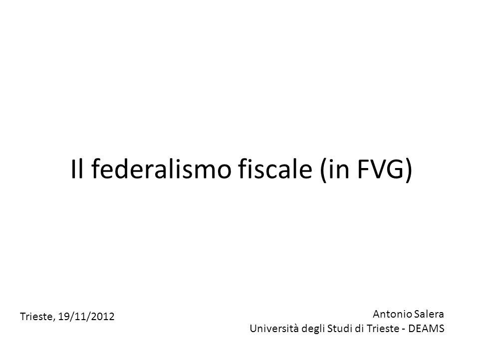 Il federalismo fiscale (in FVG)