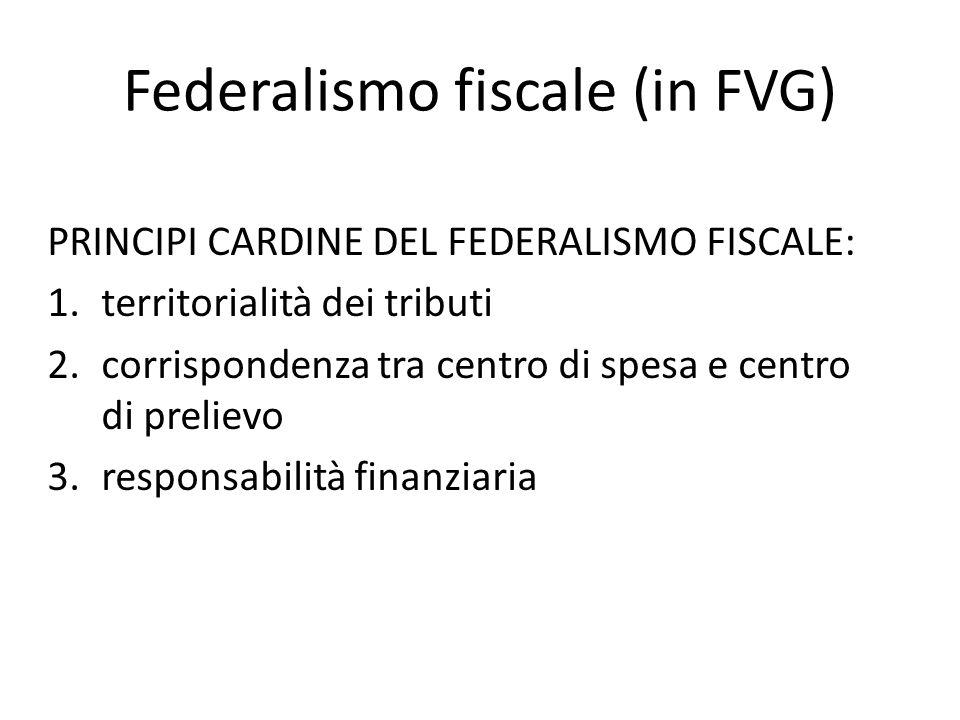 Federalismo fiscale (in FVG)