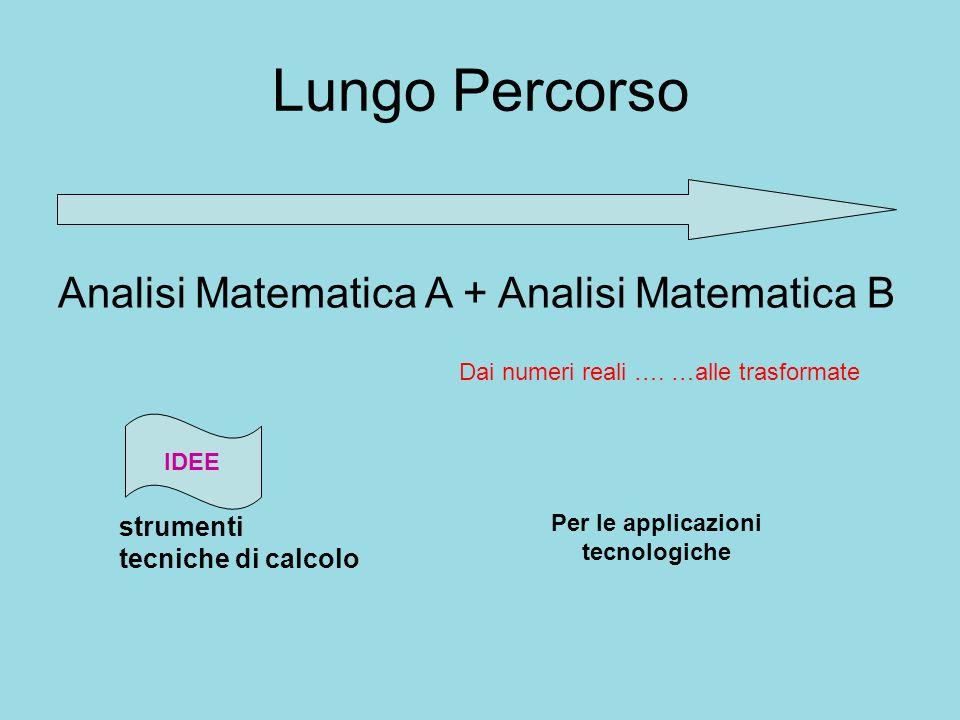 Lungo Percorso Analisi Matematica A + Analisi Matematica B strumenti