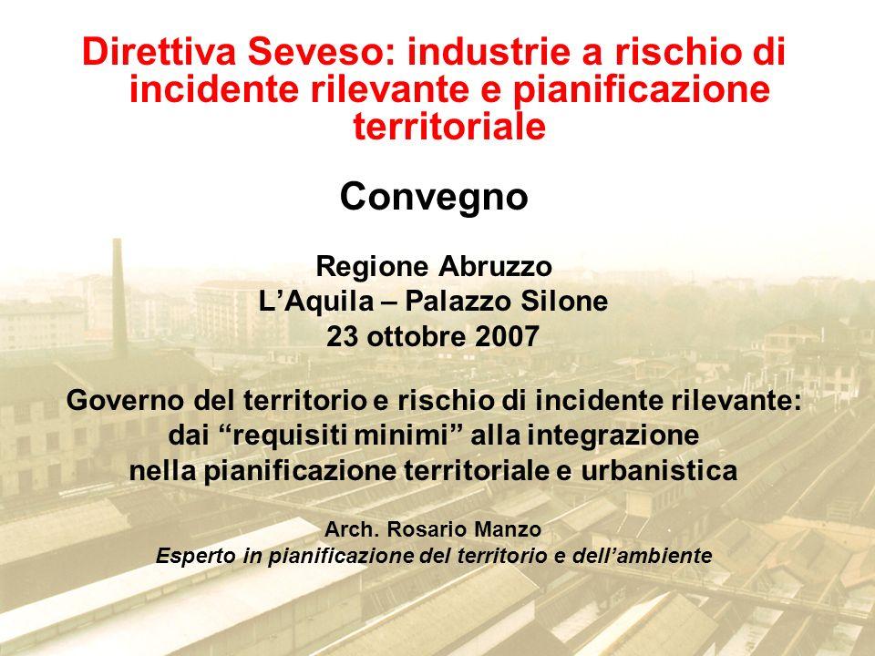 Direttiva Seveso: industrie a rischio di incidente rilevante e pianificazione territoriale