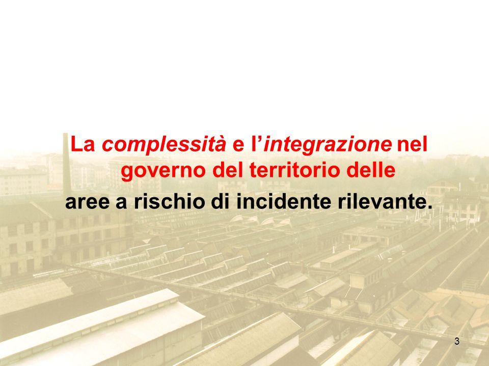 La complessità e l'integrazione nel governo del territorio delle