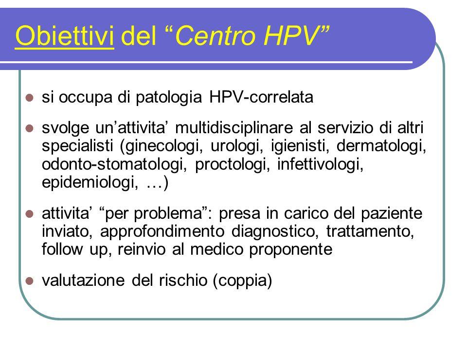 Obiettivi del Centro HPV